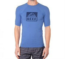 Reef Logo Rash Guard 4 Tshirt Re050Blu