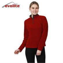 Evolite Fuga Bayan Mikro Polar Sweater - Bordo